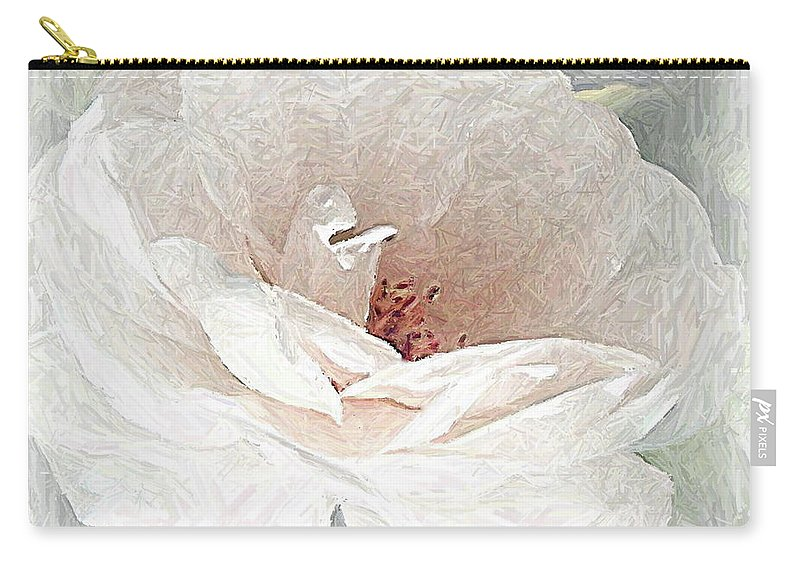 Floral Carry-all Pouch featuring the photograph Blush by Maureen J Haldeman