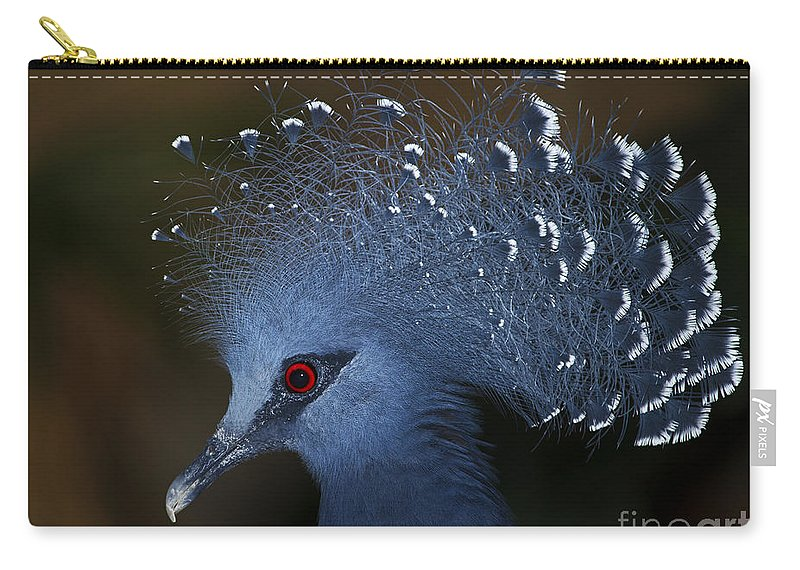 Festblues Carry-all Pouch featuring the photograph Blutiful.. by Nina Stavlund