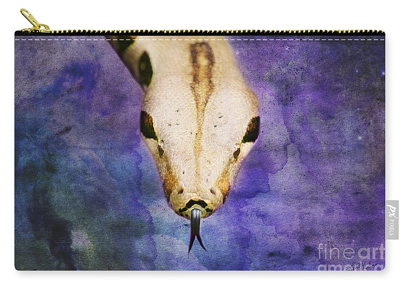 Boa Carry-all Pouch featuring the digital art Boa Snake by Lisa Redfern