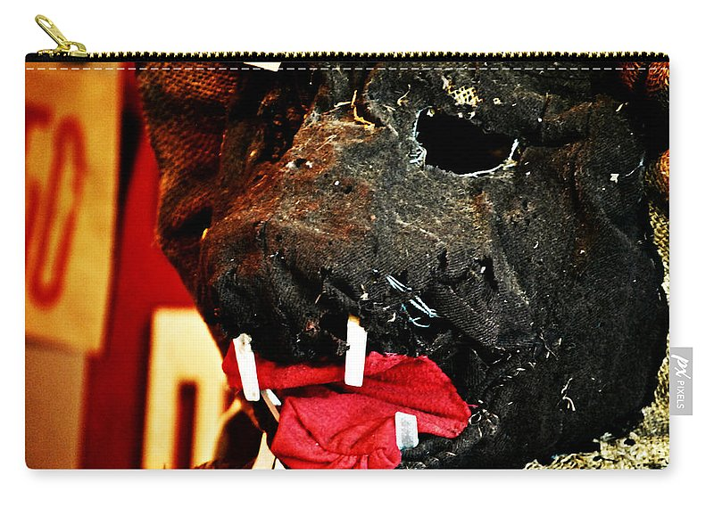 Boar Carry-all Pouch featuring the photograph Boar Mask by Chastity Hoff