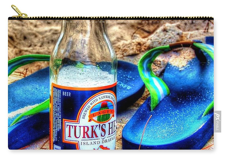 Flip Flops Carry-all Pouch featuring the photograph Boat Drinks by Debbi Granruth