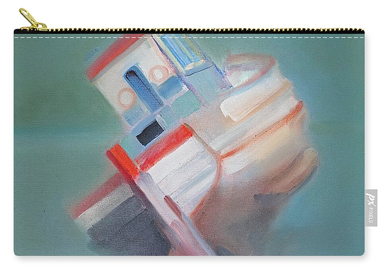 Fishing Boat Carry-all Pouch featuring the painting Boat Retired Tavira by Charles Stuart