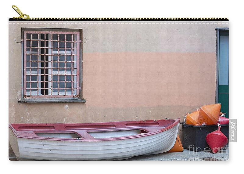 Boat Carry-all Pouch featuring the photograph Boat Under A Window by Mats Silvan