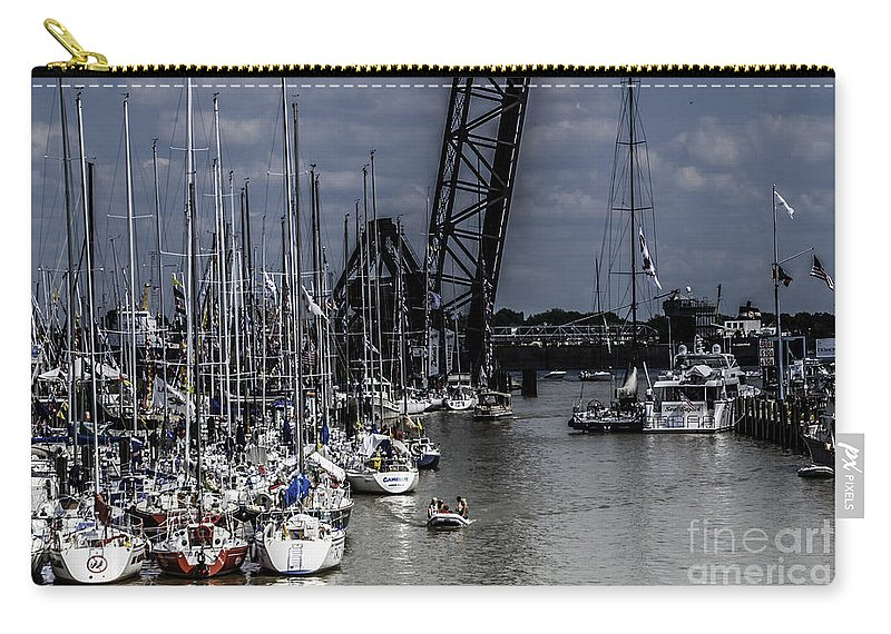 Sailboats Carry-all Pouch featuring the photograph Boat Week 3 by Ronald Grogan