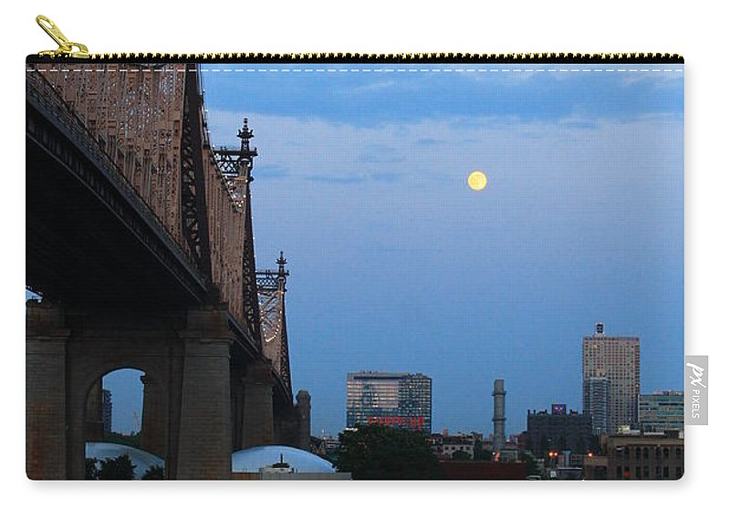 Queensboro Bridge Carry-all Pouch featuring the photograph Boating Stream by Catie Canetti