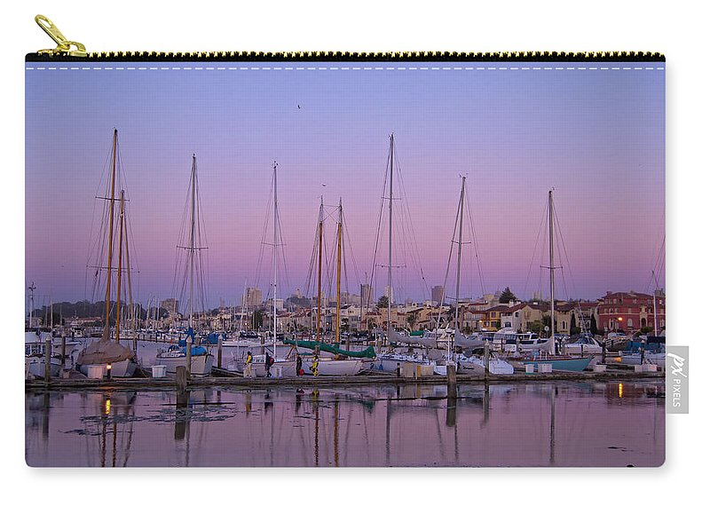 Boats Carry-all Pouch featuring the photograph Boats At Dusk 2 by Donna Doherty