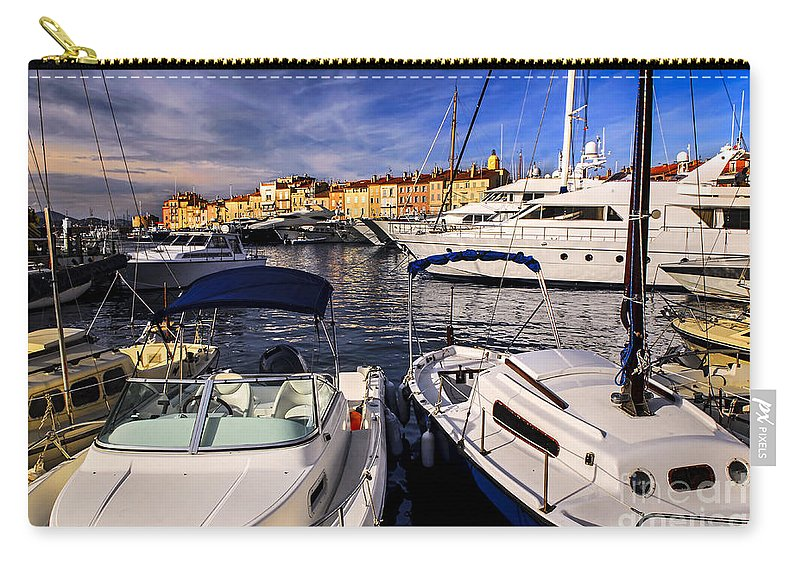Yacht Carry-all Pouch featuring the photograph Boats At St.tropez by Elena Elisseeva