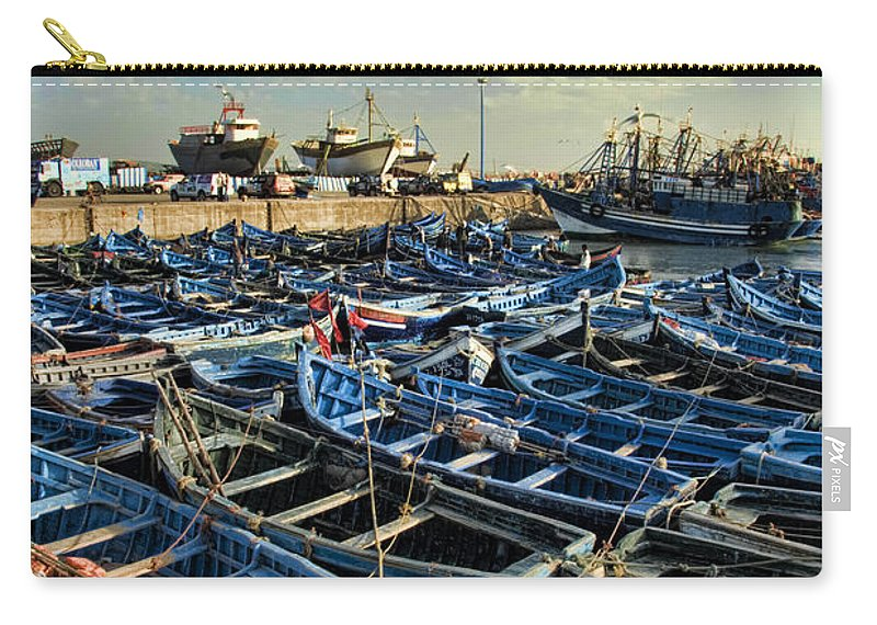 Dusk Carry-all Pouch featuring the photograph Boats In Essaouira Morocco Harbor by David Smith