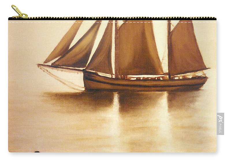 Painting Carry-all Pouch featuring the painting Boats In Sun Light by Janice Dunbar
