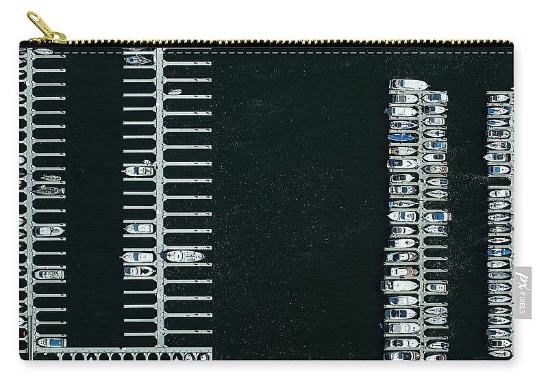 Tranquility Carry-all Pouch featuring the photograph Boats In The Harbour by Michael H