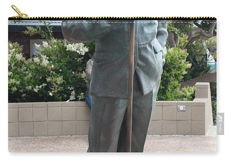 Bob Hope Memorial Statue Carry-all Pouch featuring the photograph Bob Hope Memorial Statue by John Telfer