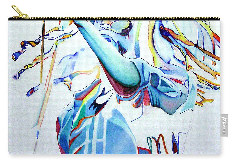 Bob Marley Carry-all Pouch featuring the painting Bob Marley Colorful by Joshua Morton