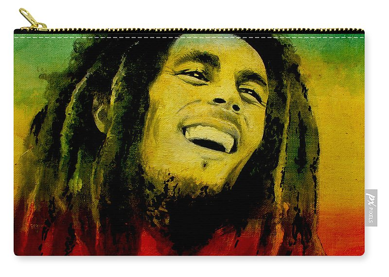 Carry-all Pouch featuring the painting Bob Marley by Lin Petershagen