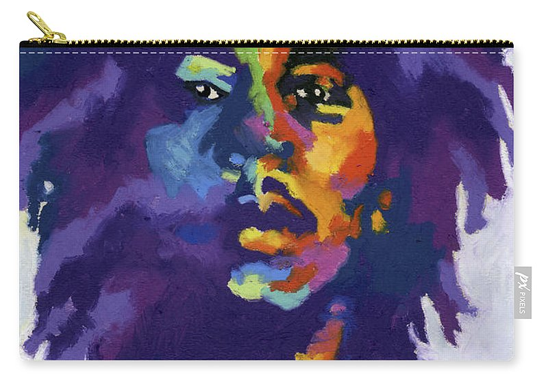 Bob Marley Carry-all Pouch featuring the painting Bob Marley by Stephen Anderson
