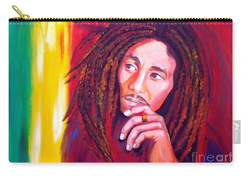 Autism Carry-all Pouch featuring the painting Bob Marley by To-Tam Gerwe