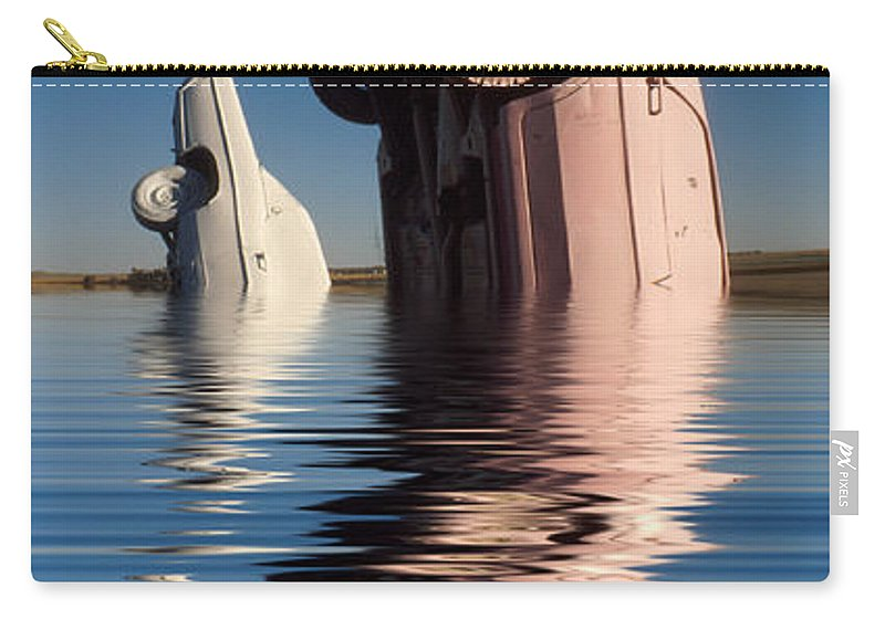 Cadillac Carry-all Pouch featuring the photograph Bobbing For Carburetors by Jerry McElroy