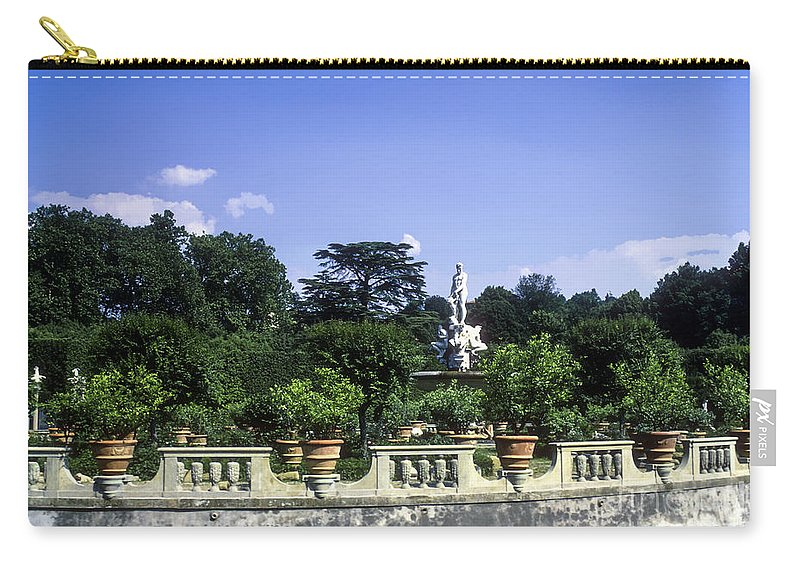 Boboli Gardens Florence Italy Statue Statues Tree Trees Garden Pot Pots Pottery Landscape Landscapes Carry-all Pouch featuring the photograph Boboli Gardens by Bob Phillips