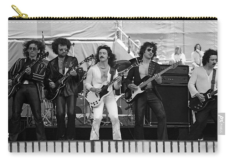 Blue Oyster Cult Carry-all Pouch featuring the photograph Boc #47 Enhanced Bw by Ben Upham