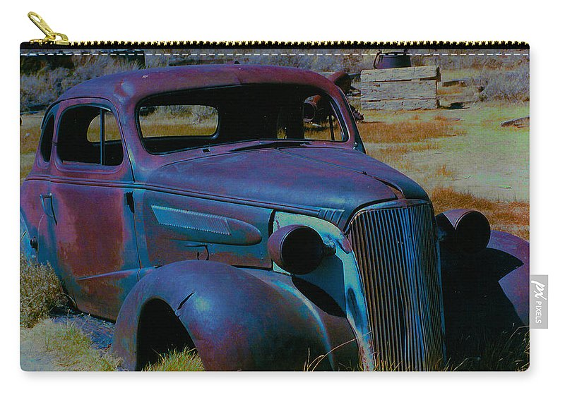 Barbara Snyder Carry-all Pouch featuring the digital art Bodie Plymouth by Barbara Snyder