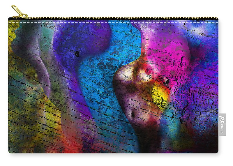Abstract Carry-all Pouch featuring the photograph Bodies Colorful by Edmund Nagele