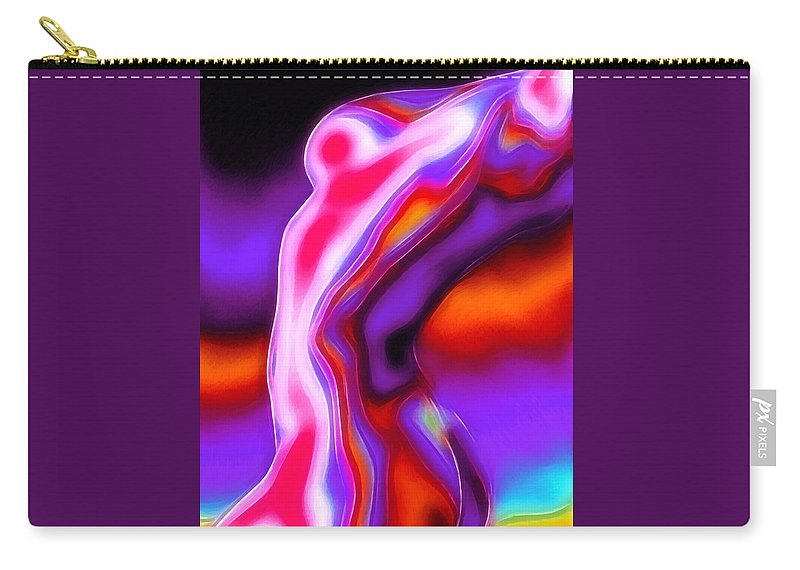 Dark Carry-all Pouch featuring the painting Bodytalk by Steve K