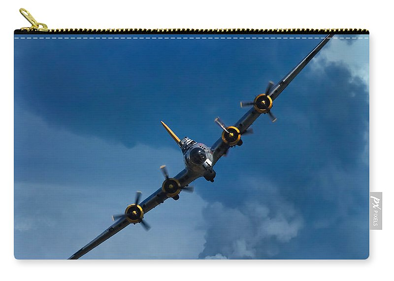 3scape Carry-all Pouch featuring the photograph Boeing B-17 Flying Fortress by Adam Romanowicz