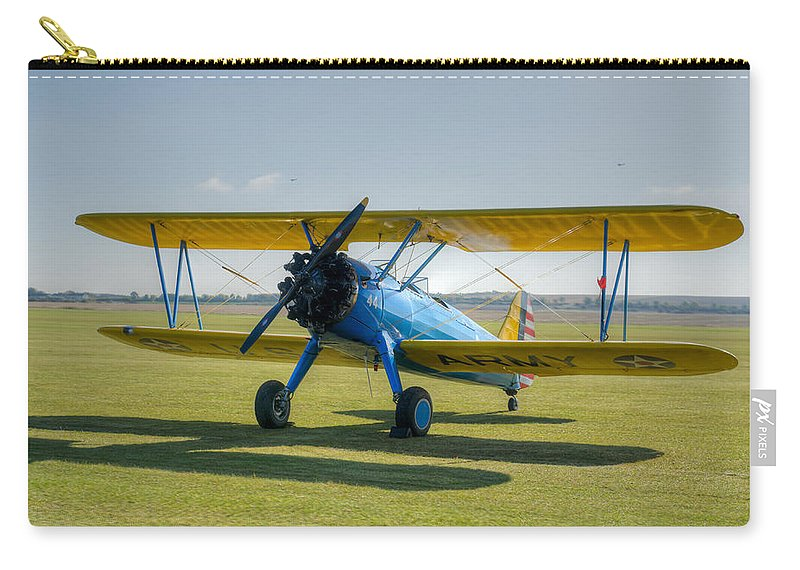 Boeing Stearman Carry-all Pouch featuring the photograph Boeing Stearman Hdr by Gary Eason