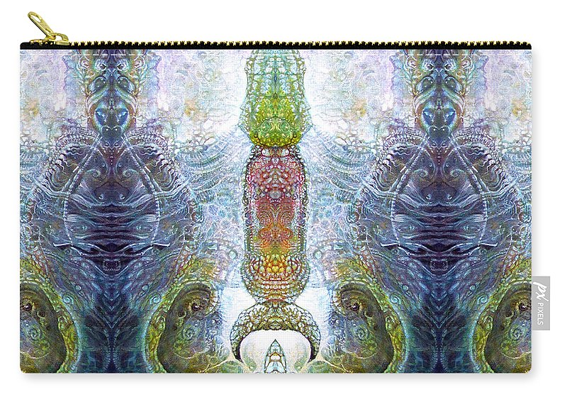 \bogomil Variations\ \otto Rapp\ \ Michael F Wolik\ Carry-all Pouch featuring the digital art Bogomil Variation 13 by Otto Rapp