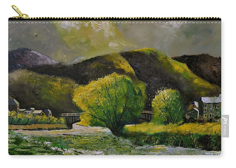 Landscape Carry-all Pouch featuring the painting Bohan by Pol Ledent