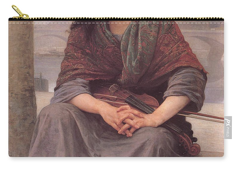William Bouguereau Carry-all Pouch featuring the digital art Bohemian by William Bouguereau