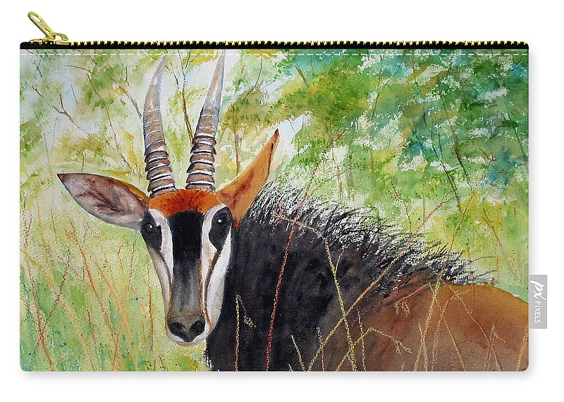 Bok Carry-all Pouch featuring the painting Bok At Ya by Patricia Beebe