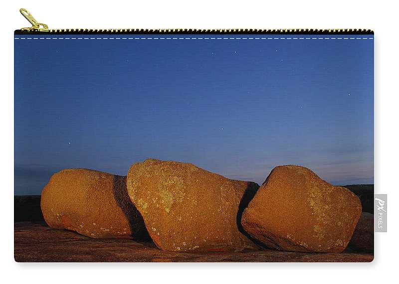 Texas Carry-all Pouch featuring the photograph Bold Boulders by Andrew McInnes