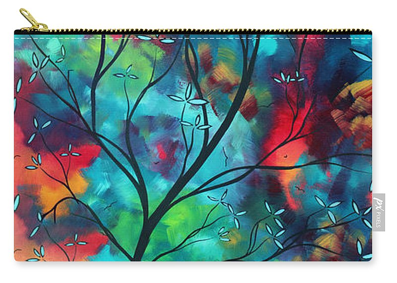 Abstract Carry-all Pouch featuring the painting Bold Rich Colorful Landscape Painting Original Art COLORED INSPIRATION by MADART by Megan Duncanson