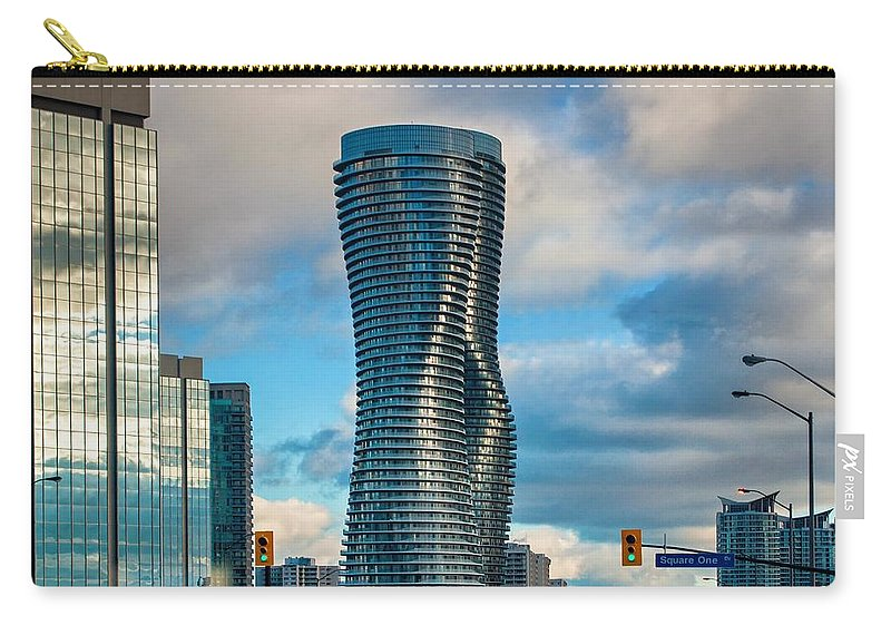 City Carry-all Pouch featuring the photograph Bold Towers by Steve Harrington
