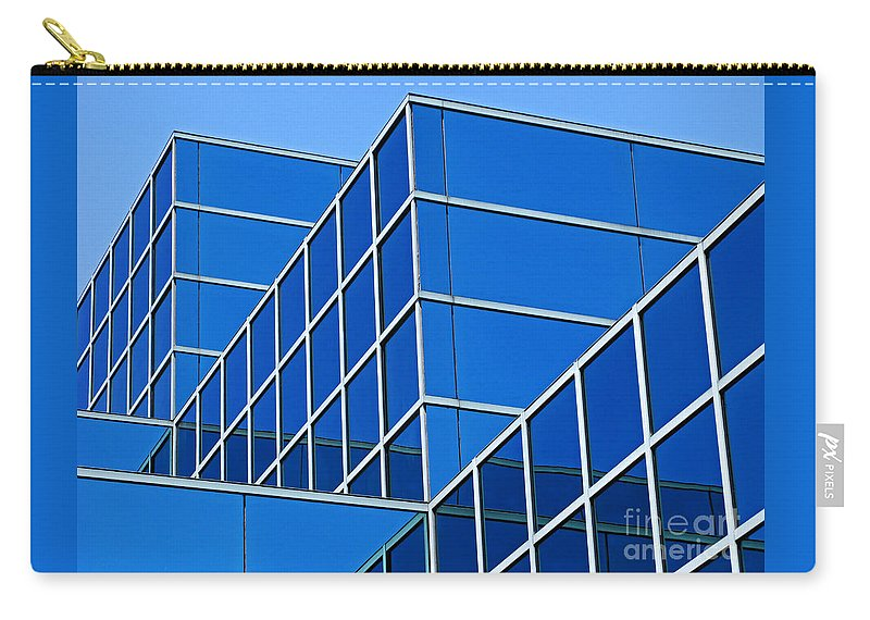 Building Carry-all Pouch featuring the photograph Boldly Blue by Ann Horn