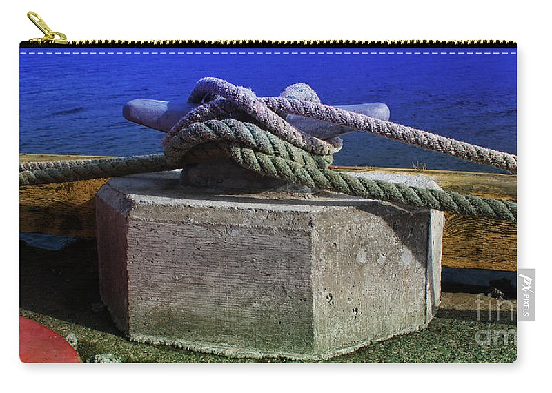 Bollard Carry-all Pouch featuring the photograph Bollard by Barbara Griffin