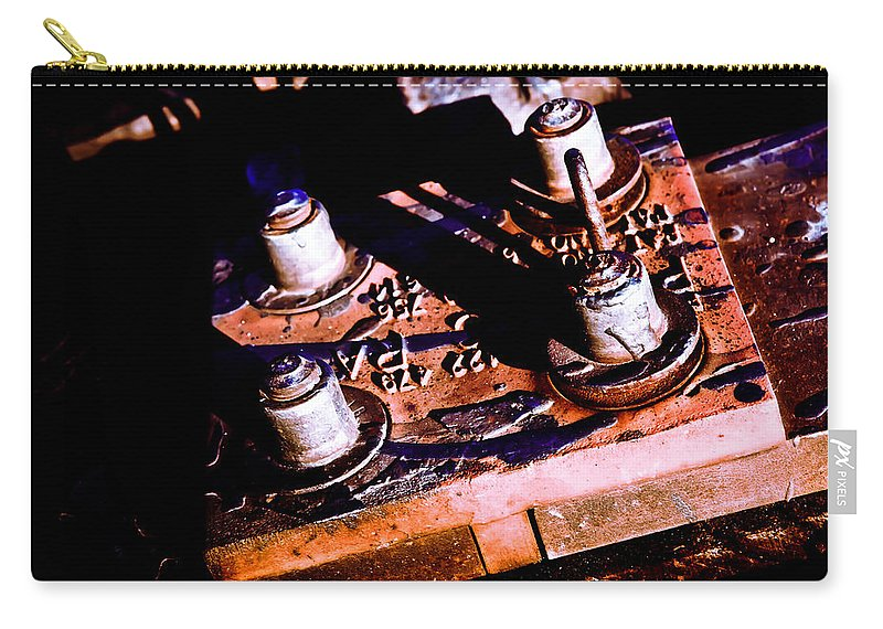 Railway Carry-all Pouch featuring the photograph Bolts by Sennie Pierson