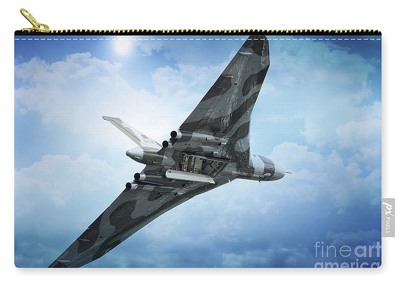 Vulcan Bomber Xh558 Carry-all Pouch featuring the digital art Bombs Gone by J Biggadike
