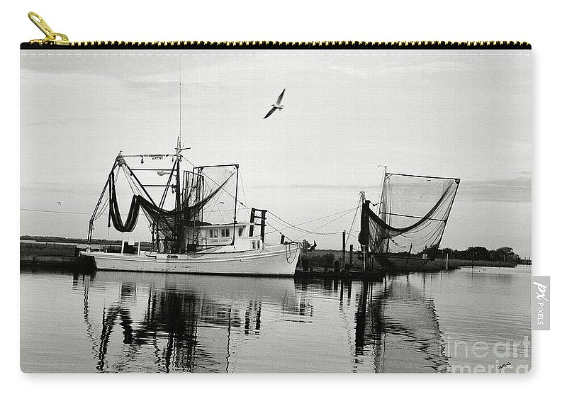 Shrimp Boat Carry-all Pouch featuring the photograph Bon Temps by Scott Pellegrin