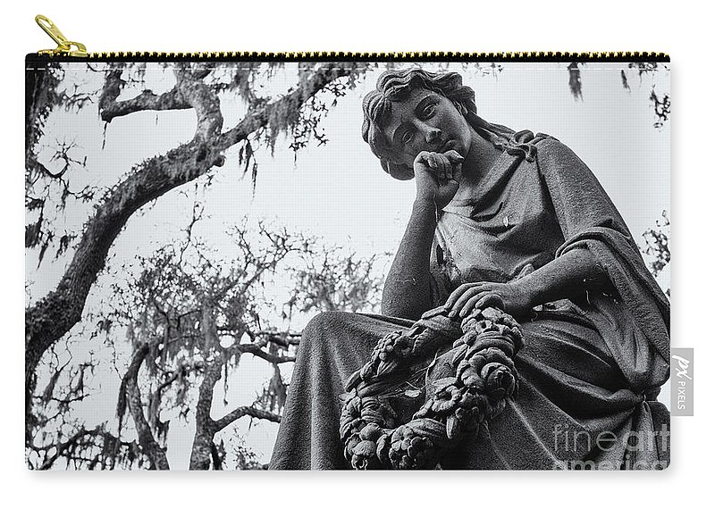 Bonaventure Cemetery Carry-all Pouch featuring the photograph Bonaventure Cemetery Savannah Georgia by Dawna Moore Photography