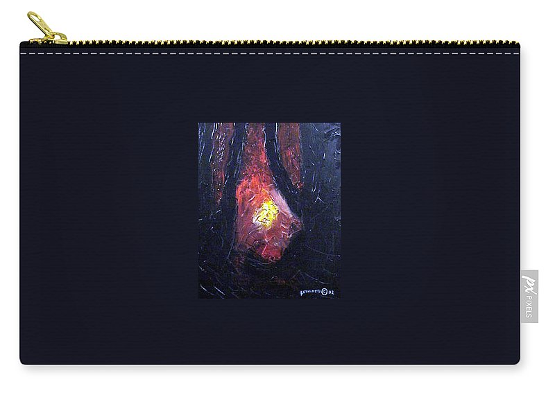 Landscape Carry-all Pouch featuring the painting Bonefire by Sergey Bezhinets
