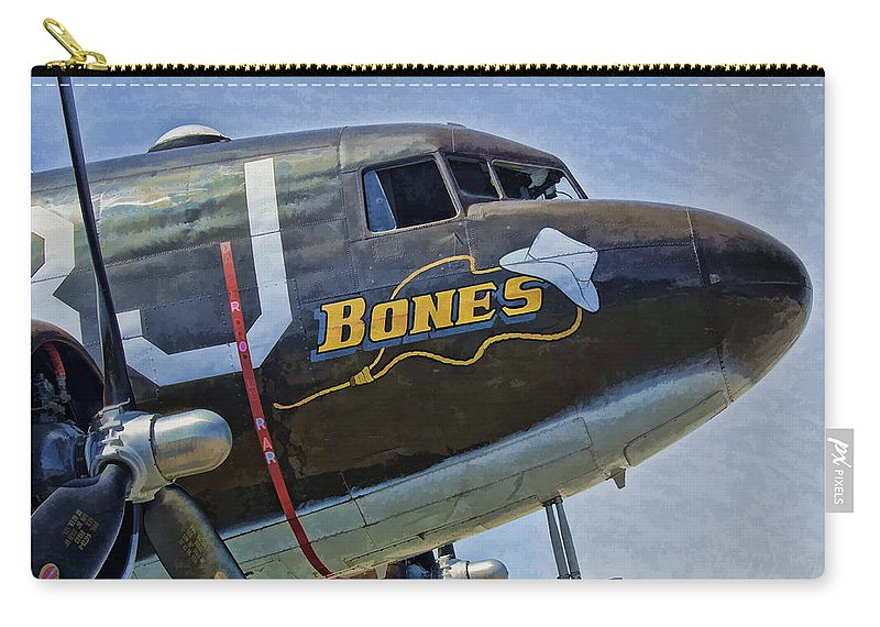 C-47 Carry-all Pouch featuring the photograph Bones by Steven Richardson