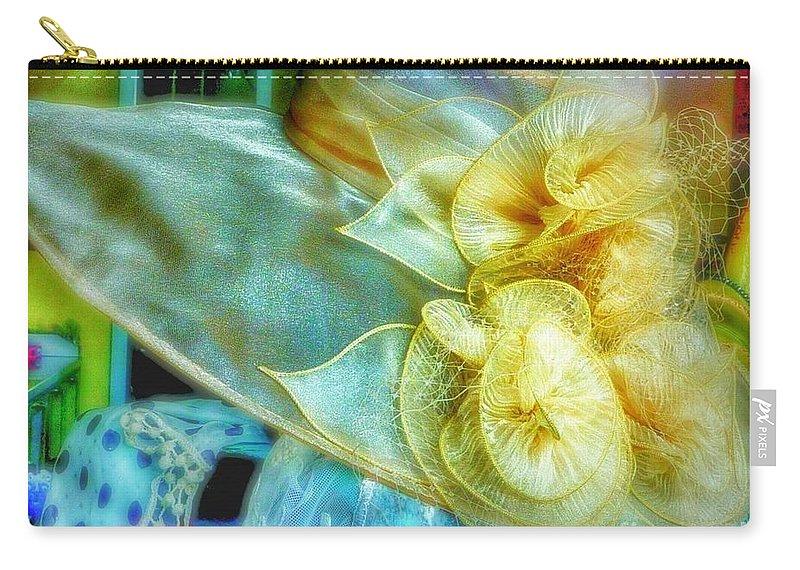Hat Carry-all Pouch featuring the photograph Bonnet Dream by Susan Garren