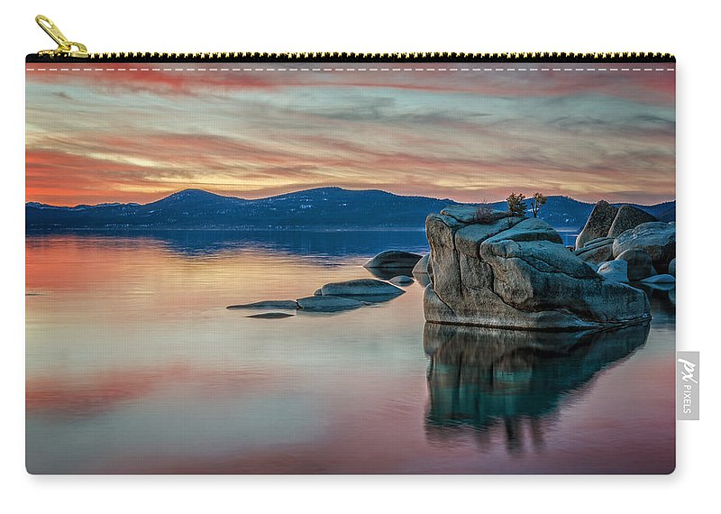 Sunset Carry-all Pouch featuring the photograph Bonsai Sunset 2 by Dianne Phelps