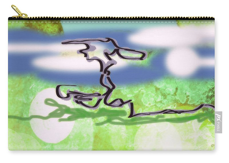 Nature Carry-all Pouch featuring the digital art Bonsai Tree by Paulette B Wright