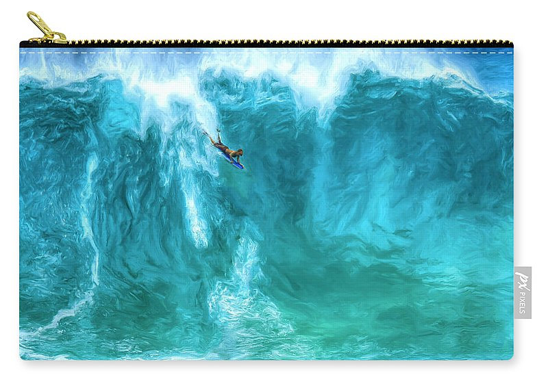 Boogie Board Carry-all Pouch featuring the painting Boogie On Down by Dominic Piperata