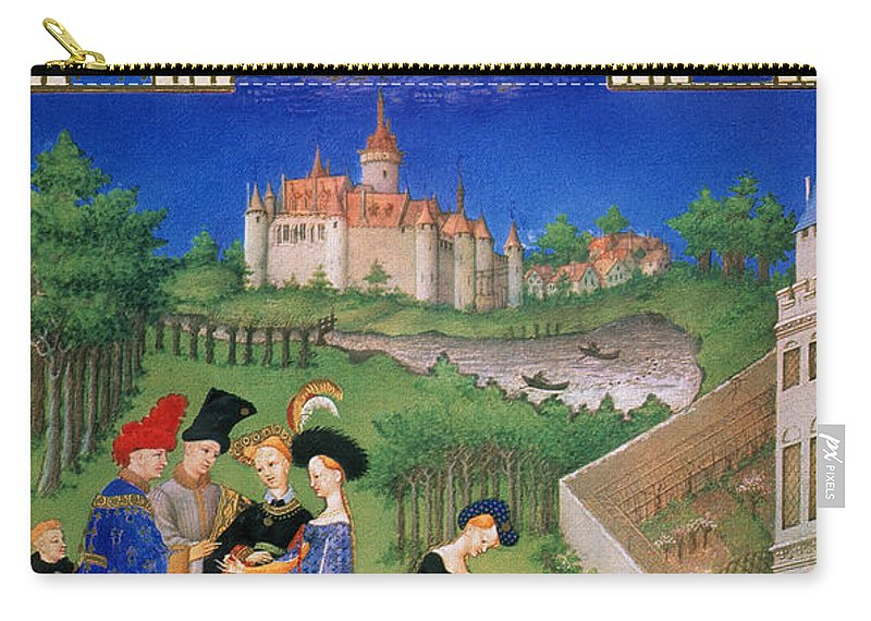 15th Century Carry-all Pouch featuring the photograph Book Of Hours: April by Granger