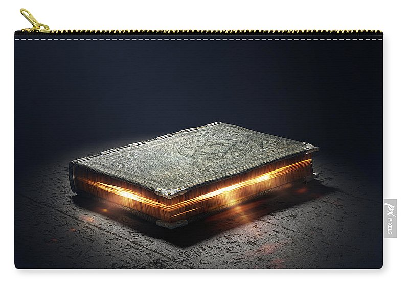 Book Carry-all Pouch featuring the photograph Book With Magic Powers by Johan Swanepoel