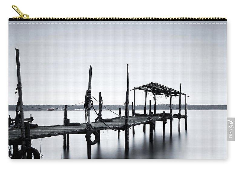 Tranquility Carry-all Pouch featuring the photograph Bootssteg Im Alten Hafen Klein Zicker by Spreephoto.de