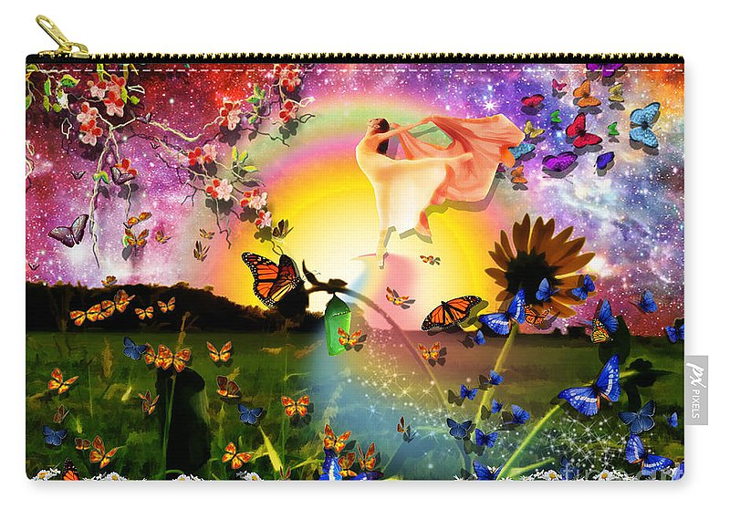 New Life Born Again Carry-all Pouch featuring the digital art Born Again by Dolores Develde